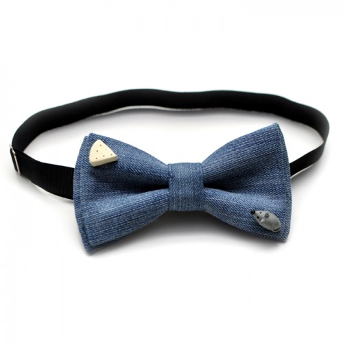 Mouse and cheese bow tie